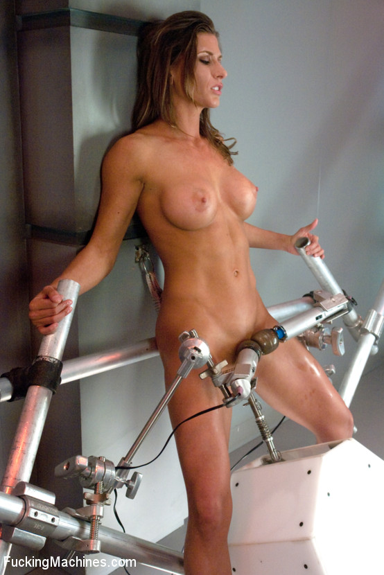 Tied up and fucked by a machine does