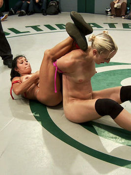 Izamar Gutierrez is doing her best while fighting three sexy, expert babes in cat fights.