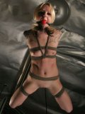 Guy likes getting his bound slave on the love swing – helpless and opened for the hard insertion