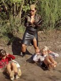 Crazy outdoor mud exercises of clothed Gina Killmer, La Bella Blanca, Nessa Devil and Jenny Lee