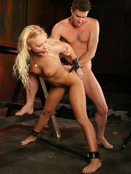 The horny man Otto Bauer likes feeling the helpless body of Jamey Janes at her disposal.
