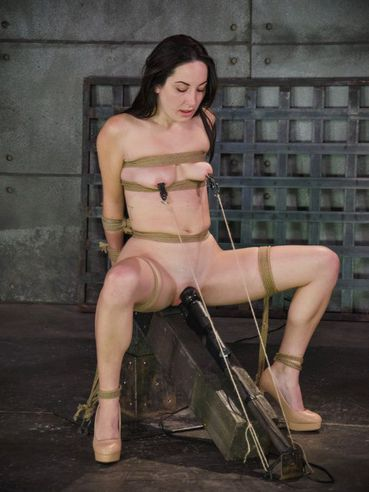 Marley Blaze dripping and covered with her own spit while gagged and used up in hardcore bondage.