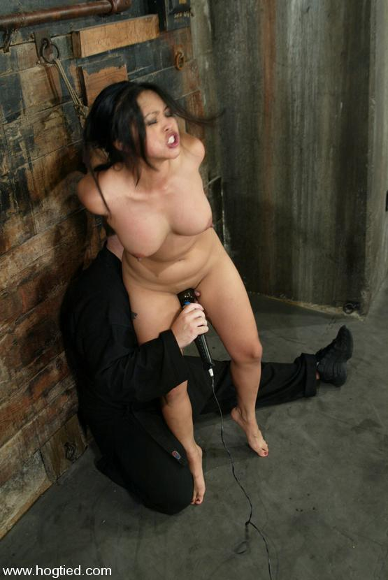 asian slave mika tan gets her body tied her mouth ball