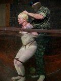 Sgt. Major and Princess Donna punish and bang bondage blonde Lorelei Lee