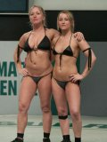 Dia Zerva, Jessie Cox, DragonLily and Holly Heart love nude public wrestling