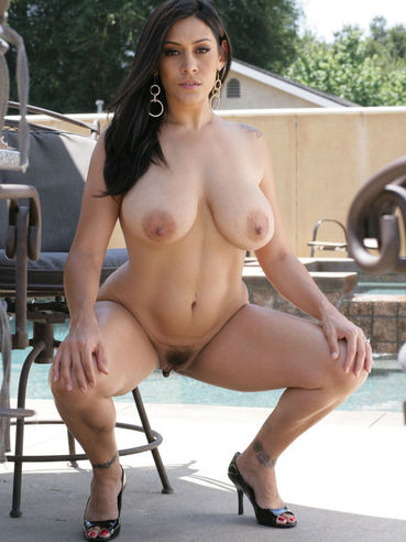 Curvy brunette Raylene with huge boobs and sexy feet shows every inch of her hot body