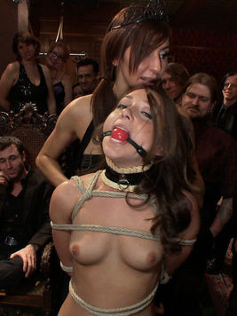 Amazing babe Remy LaCroix finds herself in the middle of a hot steamy bdsm orgy.