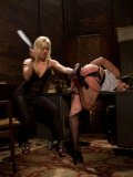 Ashley Fires and Roxanne Hall having fun with each other's tender bodies while spanking and toying.