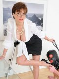 Mistress Lady Sonia tramples slave's face and makes him lick her high heel