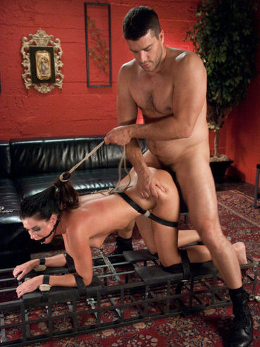 Sexy looking ripe babe India Summer gets to taste rough sex after getting teased and stimulated.
