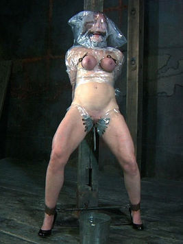 Slave woman Catherine De Sade gets smothered before master tortures her pussy with clothespins