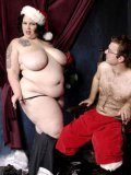 Sex hungry big woman Glory Foxxx with massive ass has sex with hot Santa