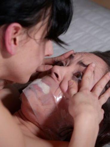 Kristina Rose treated like sheep whore during a passionate and kinky bondage scene.