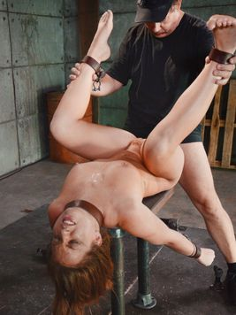 Fetish loving Maddy OReilly in straps and chains while a well endowed hunk fills her with cock.