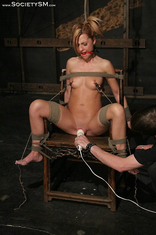 Blonde slave gets cruel punishment 8