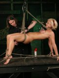 Charming slave blonde Jasmine Jolie hates vibrators, pegs and vacuum pumps