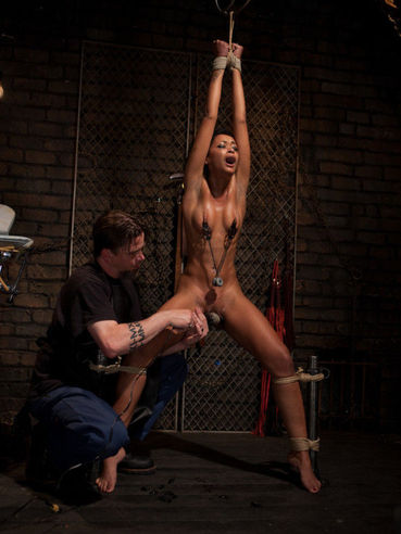 Poor little darling Skin Diamond is about to take some sex toys up her nasty meat hole.