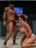 Naughty Mahina Zaltana rubs agains her match in a cat fight and inserts her fingers deep.