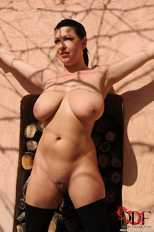 Apologise, nude babe outdoors tied assured