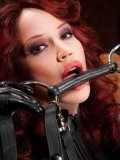 Big racked fetish babe Bianca Beauchamp popes in latex suits in the hayloft