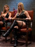 Slave man Leo Forte gets double used by two mistresses Felony and Dia Zerva