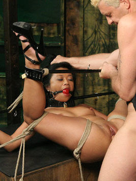 This raunchy guy Otto Bauer shows all his passion and anger to the poor slave Lucky Starr.