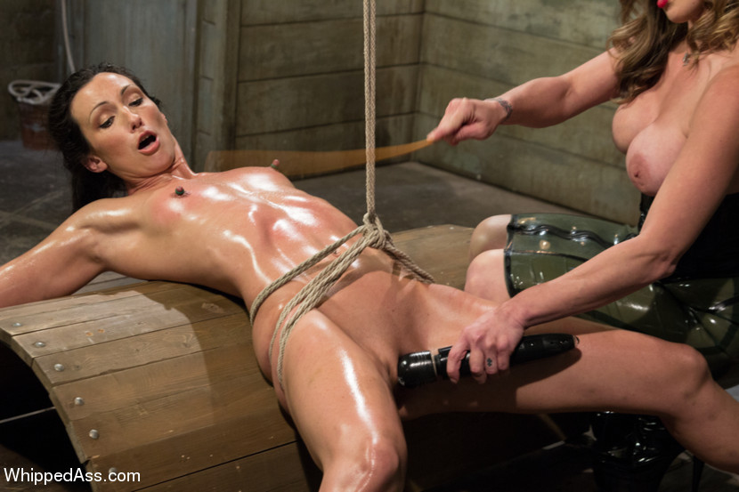Restrained submissive flogging punishment 4