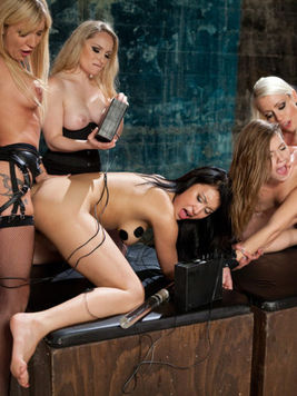 Rough BDSM with Amy Brooke, Jayden Lee, Ashlynn Leigh, Aiden Starr and Lorelei Lee.