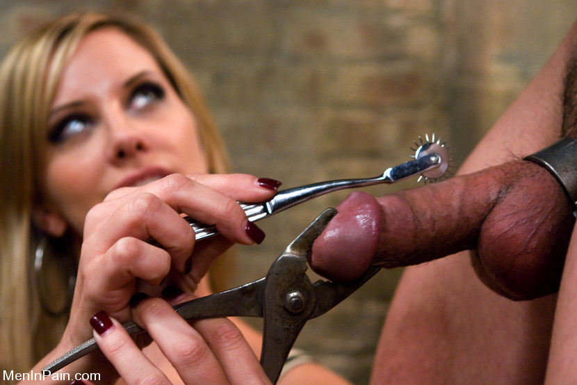 Mature bondage in public