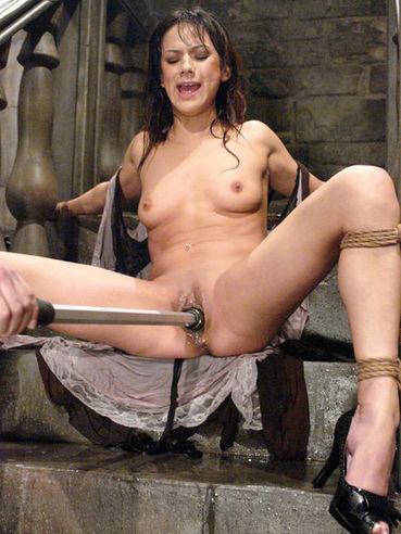 Nadia Styles gets her helpless pussy ruthlessly dildo fucked before water bondage experience