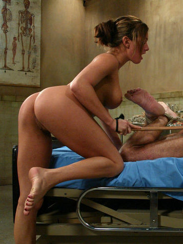 Nurse Tory Lane tortures her helpless patient and fucks his ass with no mercy