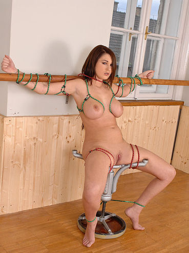 Antonya is pissing while being tied up and that is more than fun to watch.