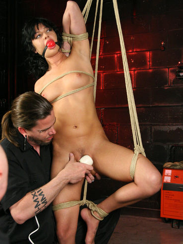 Master makes his dreams come true punishing helpless bare pussy of bound Sadie West
