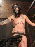 Naked bound Lana Phoenix gets every inch of her helpless body punished by cruel master