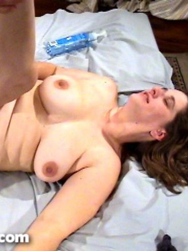 Slim guy and fat woman Gem Martin have crazy hardcore sex on a king size bed
