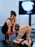 Missy Minks is caned and toyed by her rough fetish mistress Bobbi Starr and her sex toys