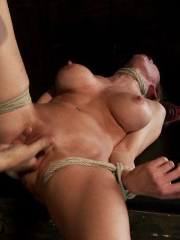 Gagging on a stiff boner is what BDSM model Rain DeGrey needs every single day.