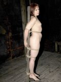 Naked redhead Bronte gets rope tied and abused by enthusiastic domme Sister Dee
