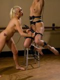 Lorelei Lee and her blonde friend Jessie Cox get to play around with vibrating toys in bondage.
