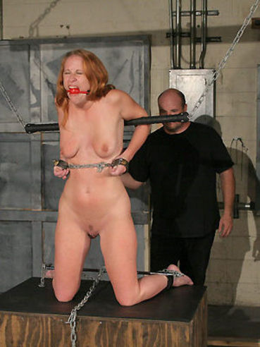 Ball gagged slave redhead Vicky Van Warren gets vibrated literally to death
