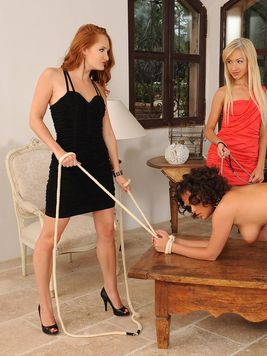 Sexy Denisa Heaven together with two other chicks enjoys harsh sexual games in FemDom style!