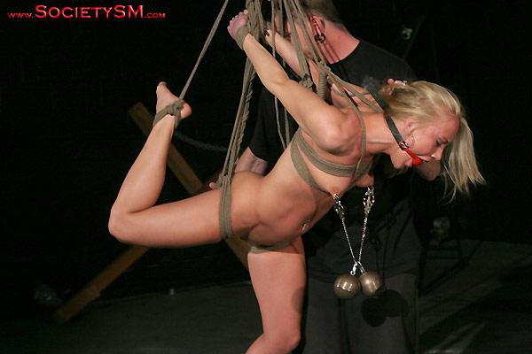 Tiavia hogtied bondage movie