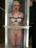 Slave blonde Lorelei Lee gets her sexy nude body enveloped in water by Torque