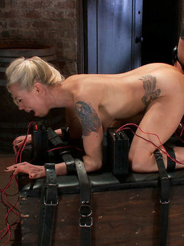 Sexy blonde Bobbi Starr is being pleased by Lorelei Lee with sex toys and insertions.