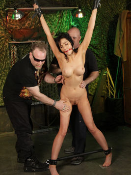 Perfect bodied helpless naked slave girl Diana Prince gets her pussy filled with dildo