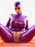 Rubber babe Bianca Beauchamp shows off her adorable body without taking off her skin tight outfit