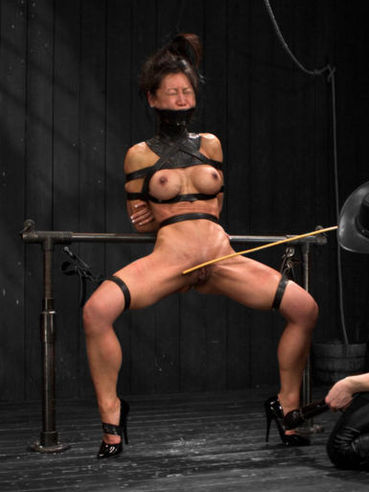Asian babe Tia Ling loves some hardcore fucking and she gets her asshole fisted and mouth gagged.