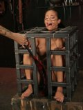 Sir Nik punishes enslaved Mia Lelani in the cage and on the bondage table