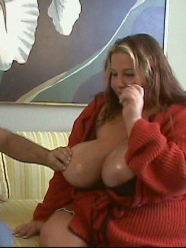 Big titty chubby woman Wonder Tracy in jean skirt gets her fat pussy eaten and fucked
