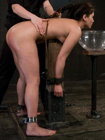 Bent over Jade Indica gets her ass spanked and dildoed before master dunks her head in cold water.